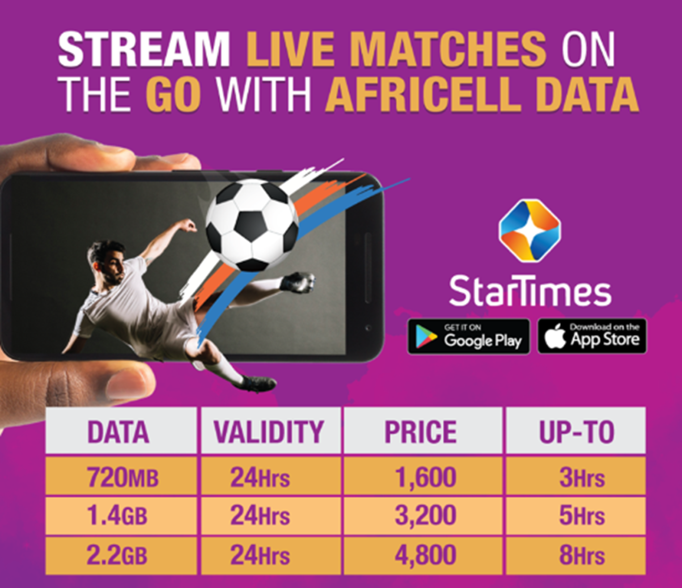 Africell & Star Times Bring the World Cup to your phone with