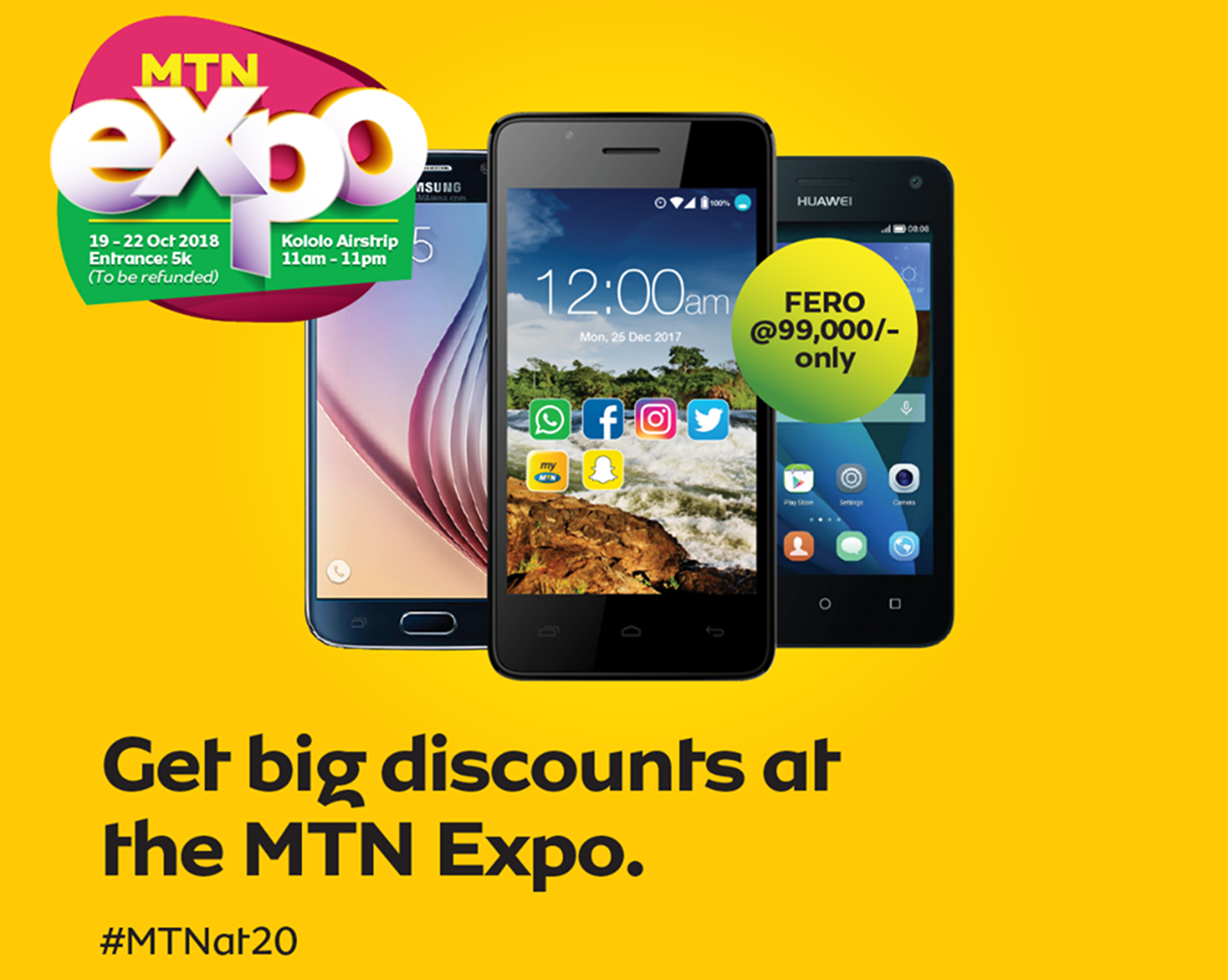 This is the full list of affordable smartphones available at the MTN