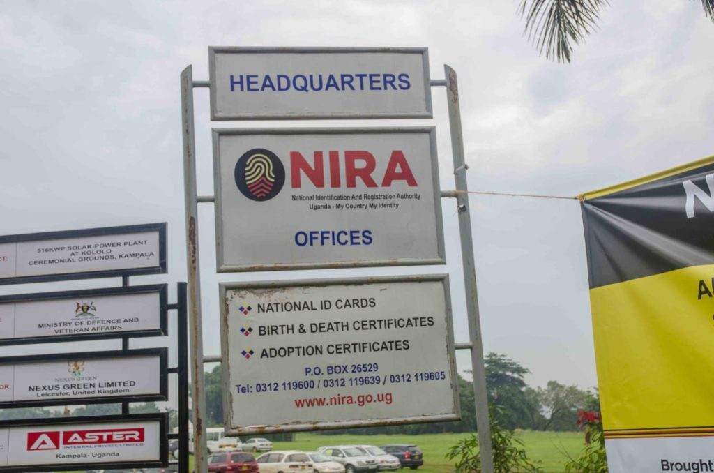 nira headquaters in kampala for national id recovery