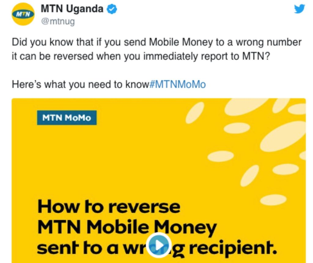 mtn mobile money reversal