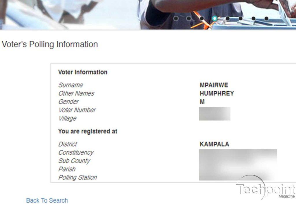 uganda voter information