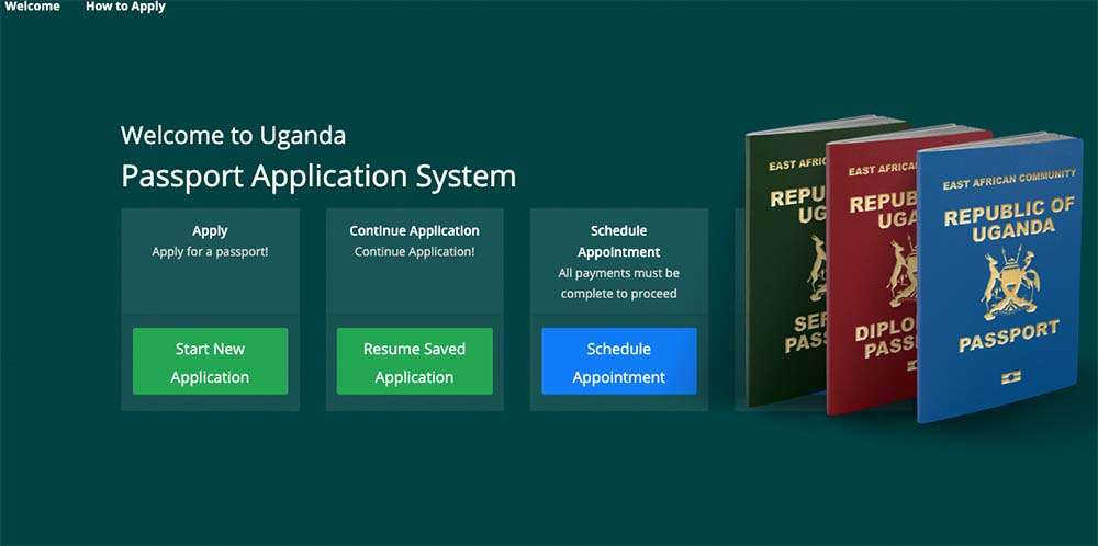 applying for a ugandan passport online