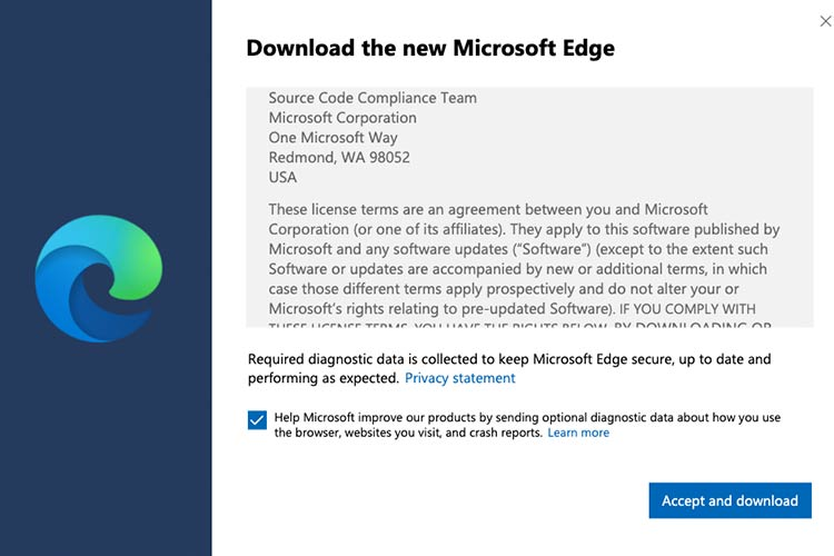 microsoft edge for mac terms and conditions