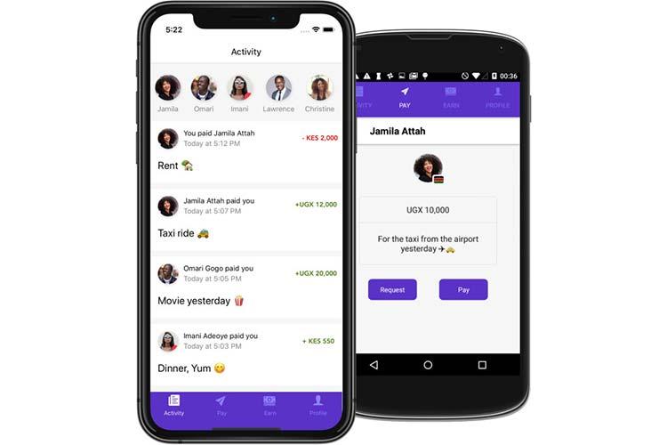 The Chipper Cash App Interface