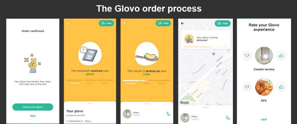 Glovo in Uganda order process