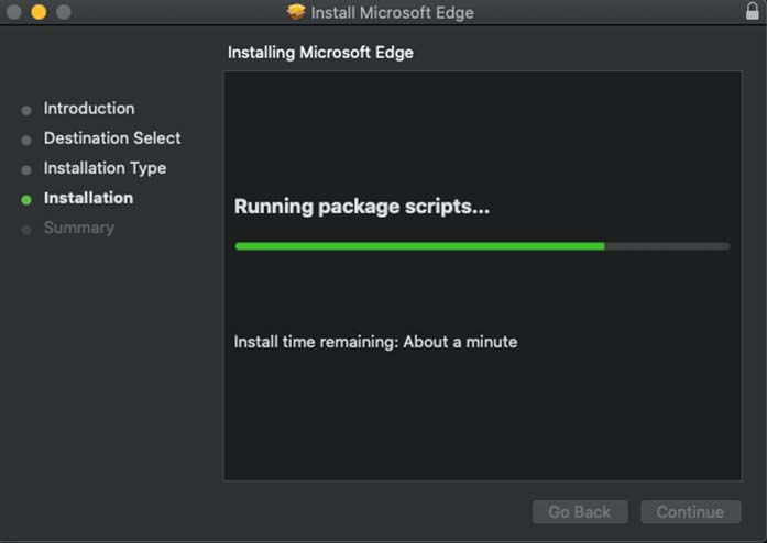 microsoft edge installation on mac