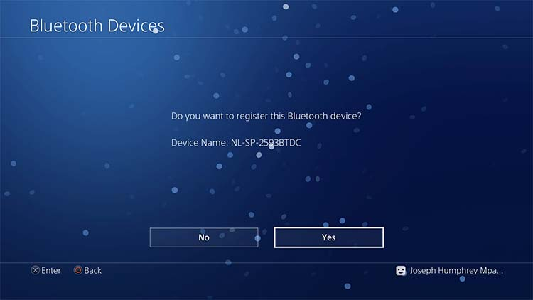 Connecting Bluetooth devices on a Playstation 4