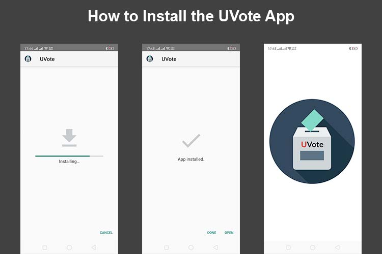 How to Install the UVote App