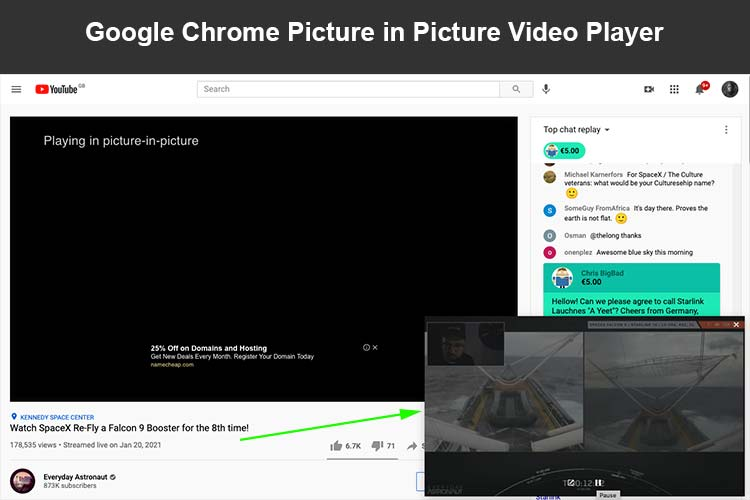 Picture in Picture Mode on Google Chrome