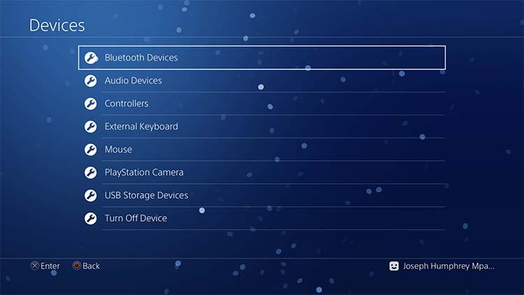 Playstation 4 Bluetooth devices