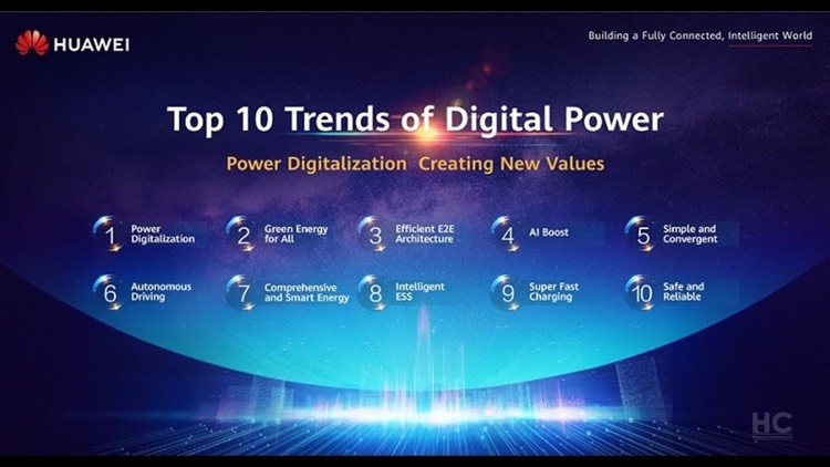 Huawei publishes its projected Top 10 Trends of Digital Power for the future