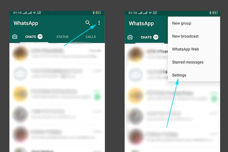 WhatsApp account Settings