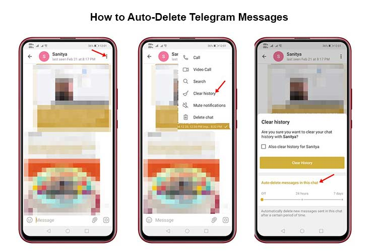 how to auto-delete telegram messages