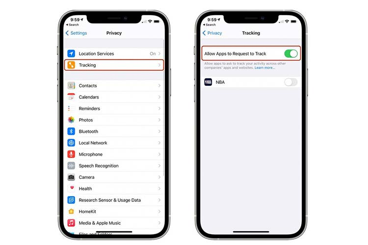 Prevent Apps from Tracking you on iPhone