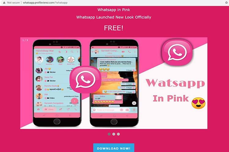 whatsapp pink virus download