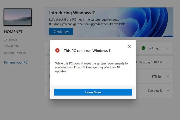 Minimum Windows 11 system requirements