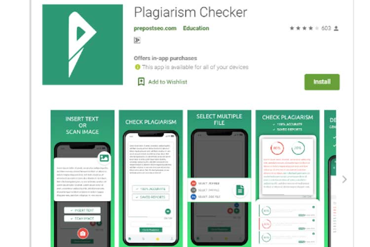 Plagiarism checker apps for android