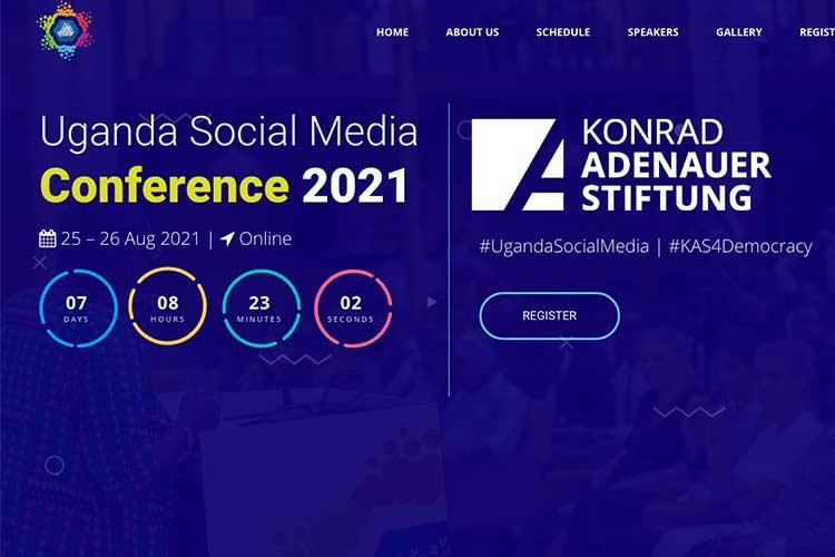 The 2021 Uganda Social Media Conference registration portal
