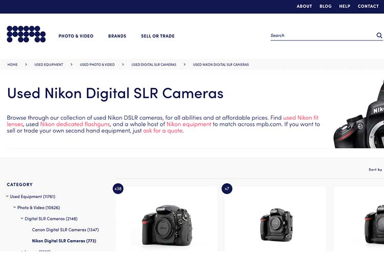 MPB used DSLR Camera from US and UK