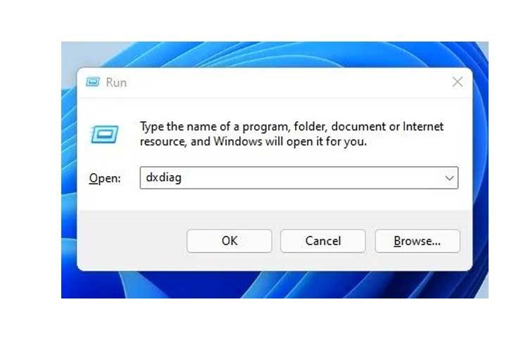 Windows 11 RUN Dialog Box