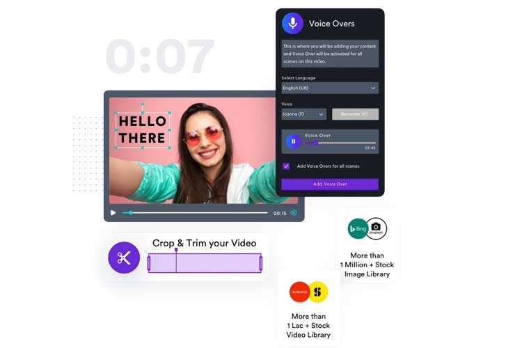 make videos from pictures with InVideo